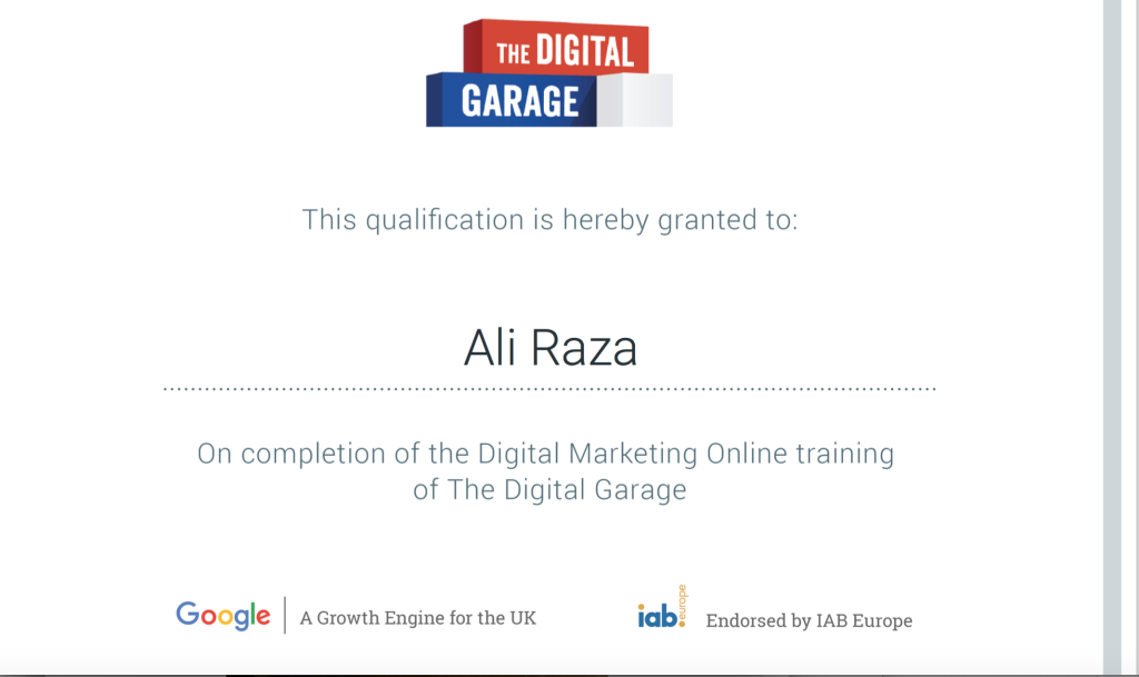 Digital Marketing Trainer Ali Raza