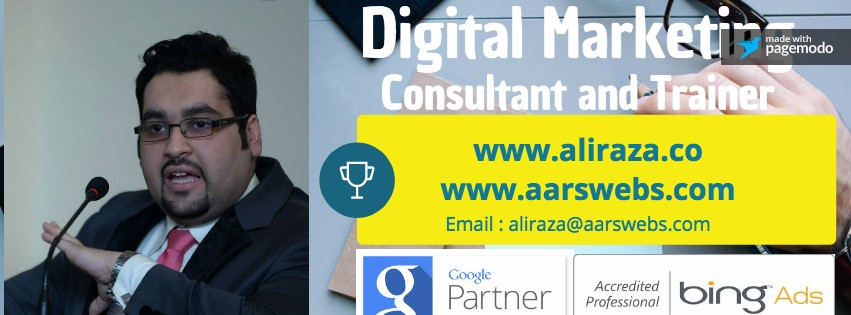 best digital marketing consultant trainer ali raza pakistan