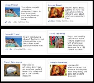 facebook ads variation