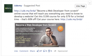 udemy poor ad