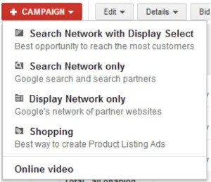 separate campaigns adwords