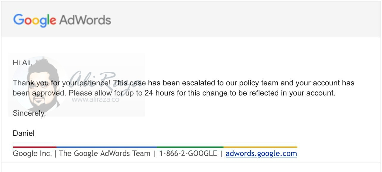 adwords suspension case6