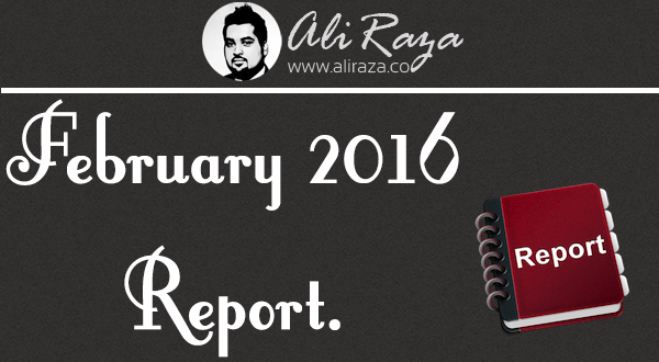 february 2016 monthly income report