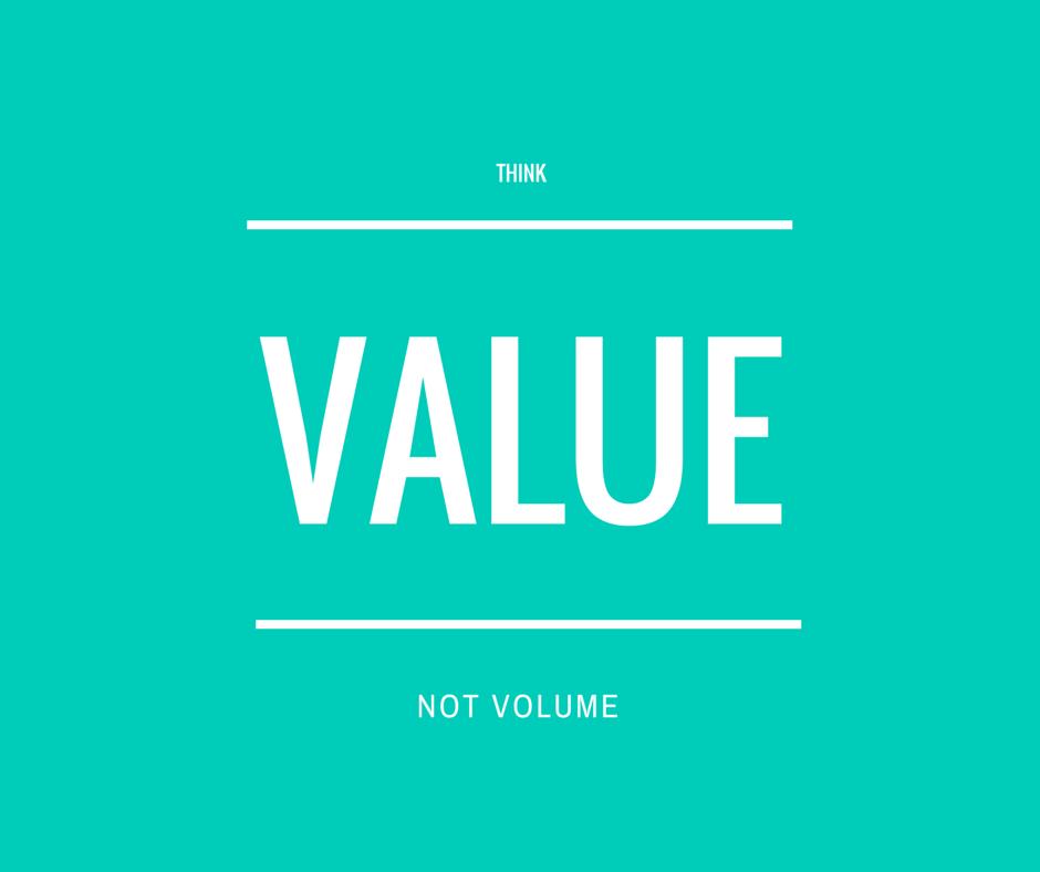 value driven content