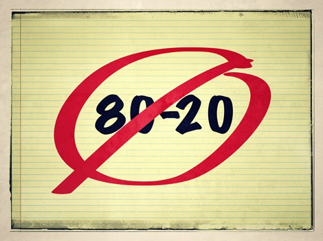 80-20 rule is wrong