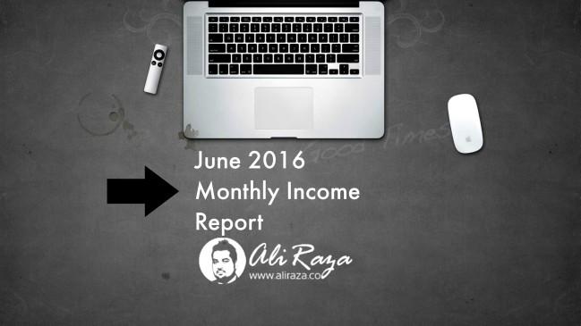 ali raza monthly report june 2016