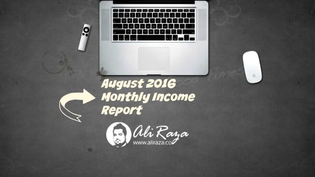 ali raza monthly report august 2016