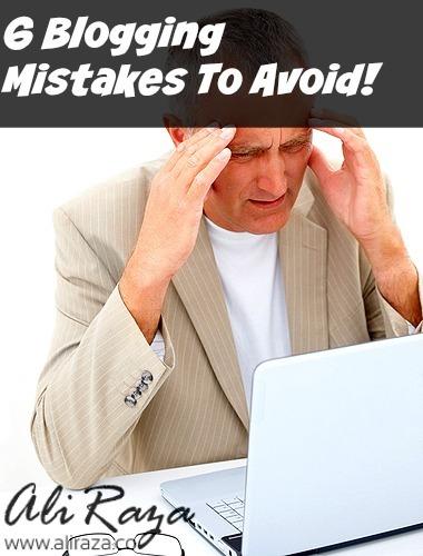 6 blogging mistakes to avoid pinterest