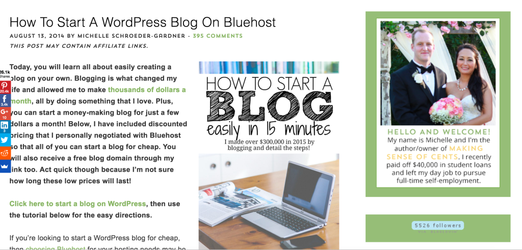 how to start your blog michelle