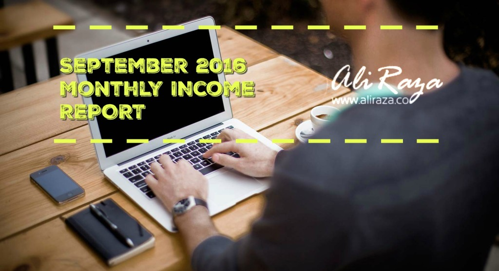 September 2016 Monthly Income Report