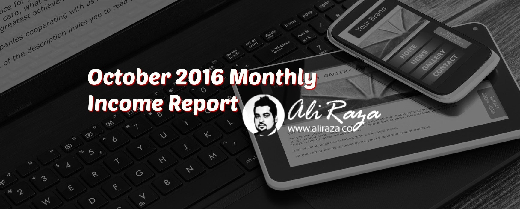 october 2016 monthly income report aliraza.co