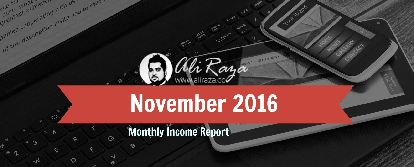 november 2016 monthly income report aliraza