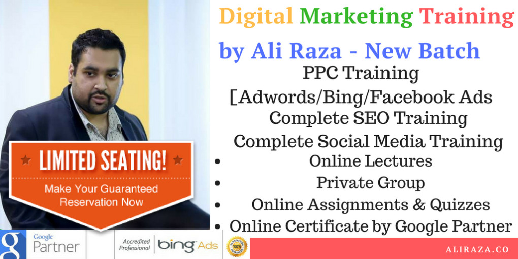 Digital Marketing Training by Ali Raza