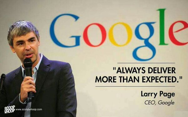 always deliver more than expected layy page google