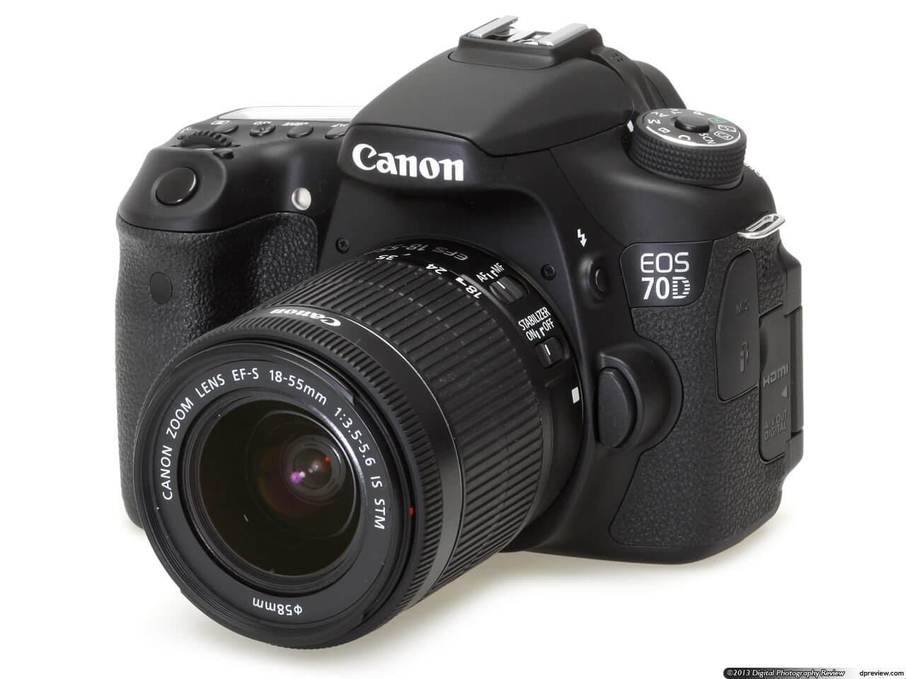 Canon EOS 70D vlog camera
