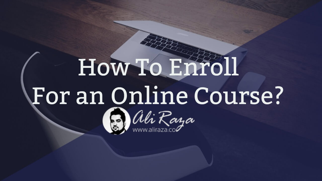 how to enroll for an online course