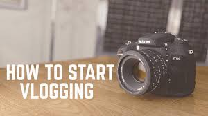 4 step process on how to start vlogging
