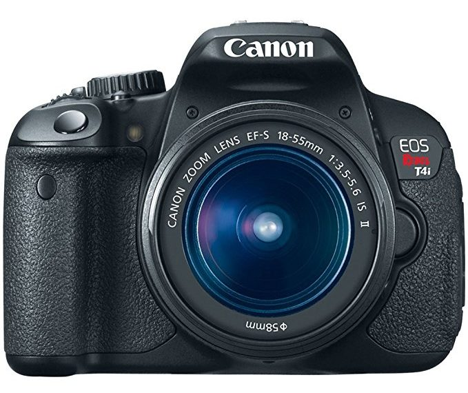 Canon EOS Rebel T4i DSLR with 18-55mm EF-S IS II Lens - Best Beginner Vlogging Camera