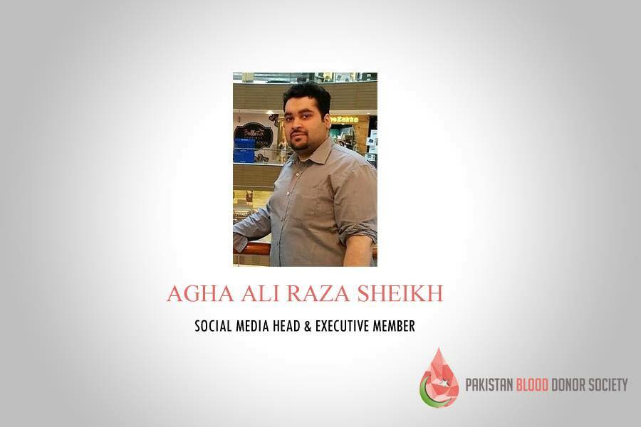 pakistan blood donor society ali raza