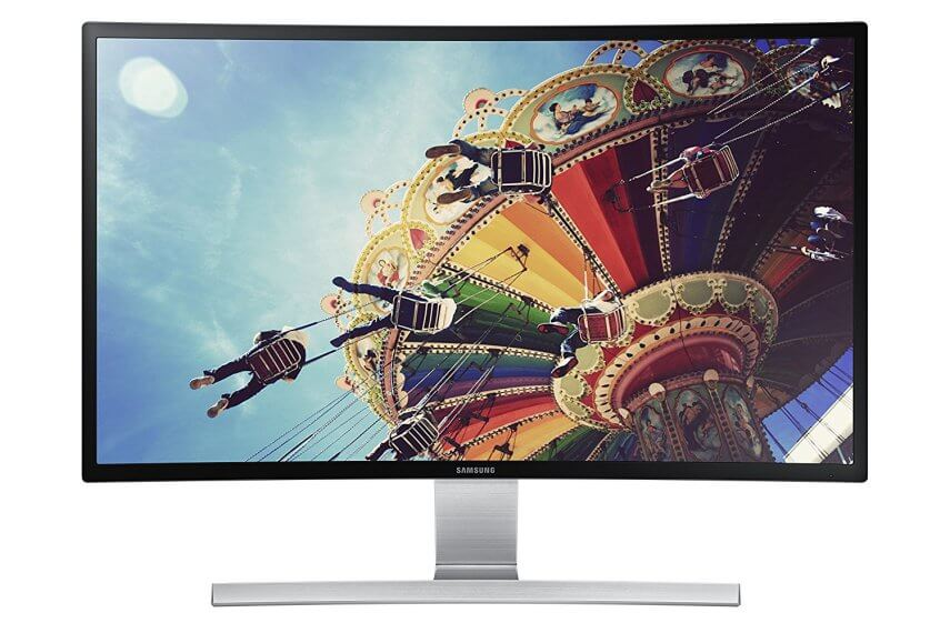 Samsung 27-Inch Curved LED-Lit Monitor S27D590C - Best 4k Curved Monitor on Budget