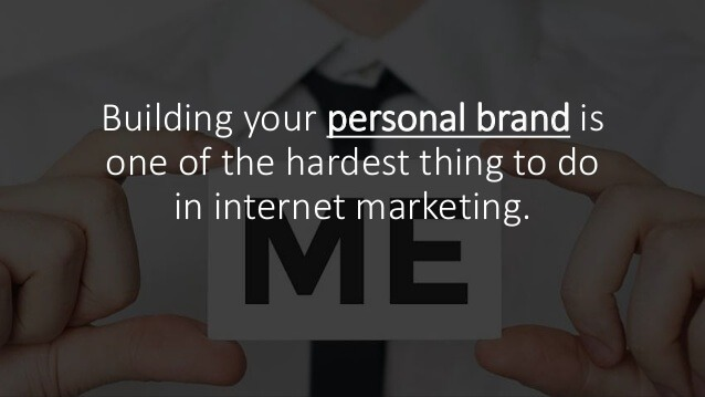 How to build your personal brand on the internet in 2018 for Step by step to build a house yourself