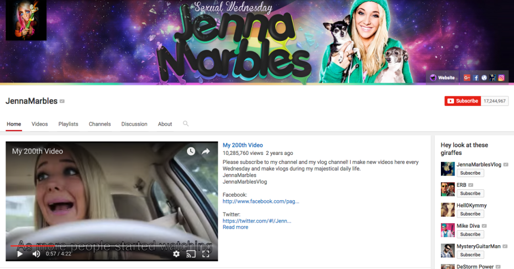 Jenna Marbles - youtuber