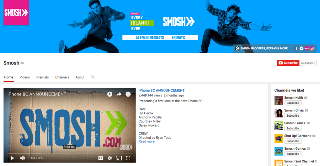 smosh youtube channel