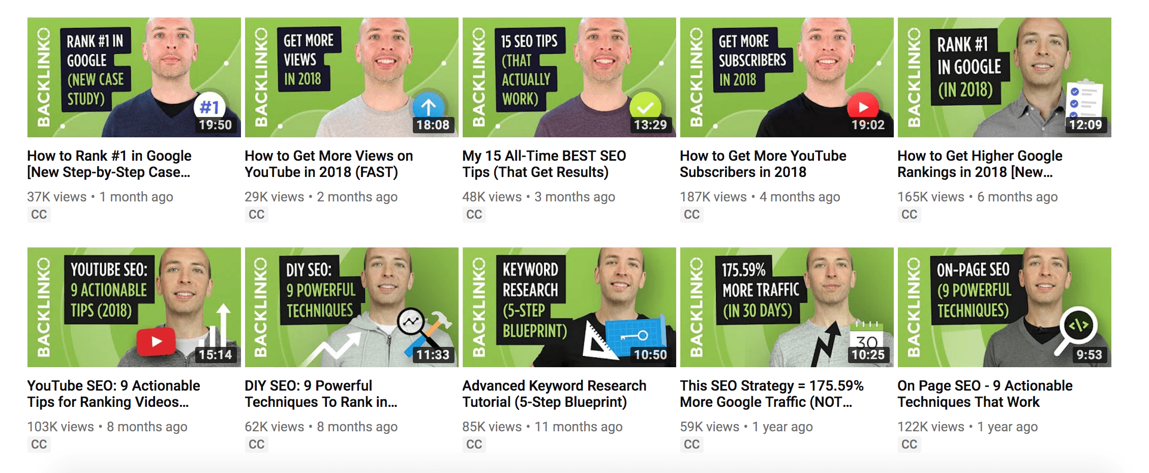 youtube seo guide backlinko channel