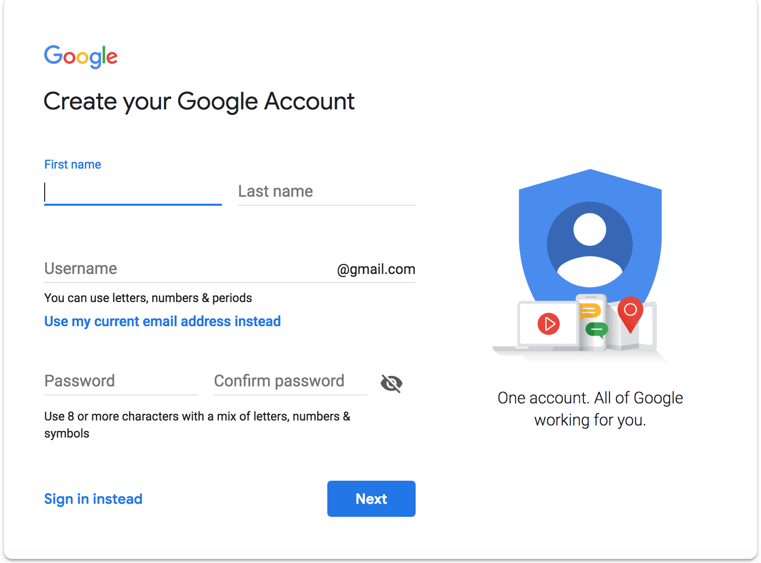 how to get a google account to have a youtube