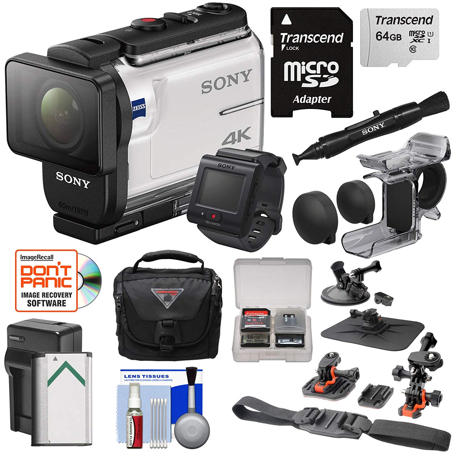 Sony Action Cam FDR-X3000R 4K Camcorder