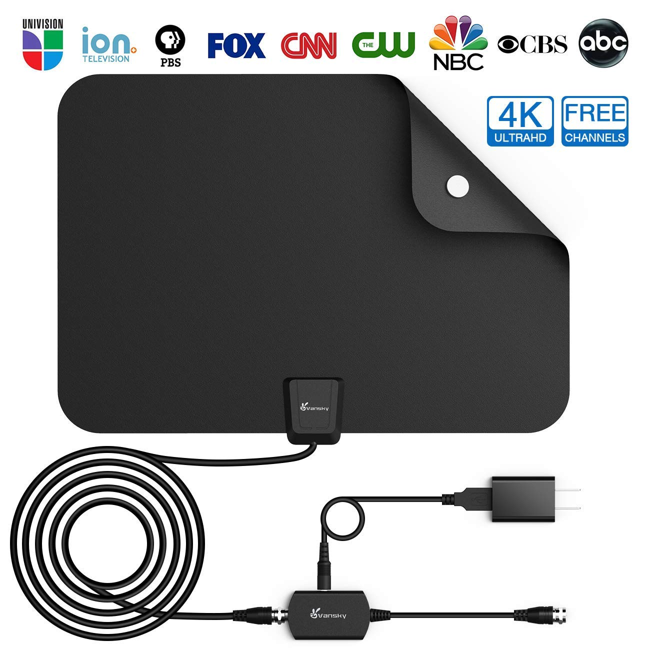 Vansky Amplified UHD TV Antenna [Best Indoor Tv Antenna]