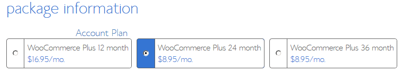 BlueHost eCommerce Hosting - Plus Package Information
