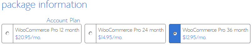 BlueHost eCommerce Hosting - Pro Package Information