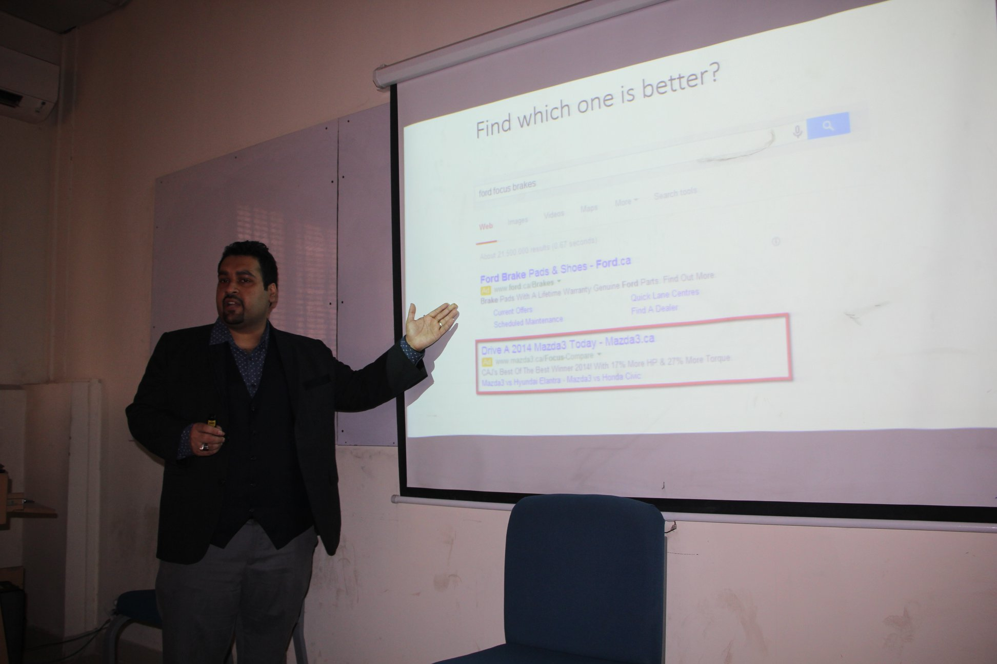 Digital Marketing Session at Bahria University Ali Raza