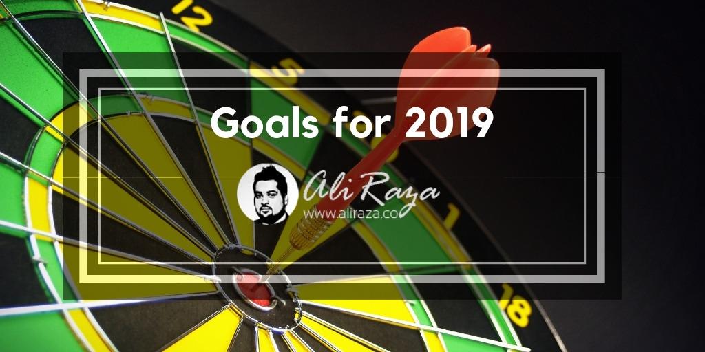 Goals for 2019 aliraza.co
