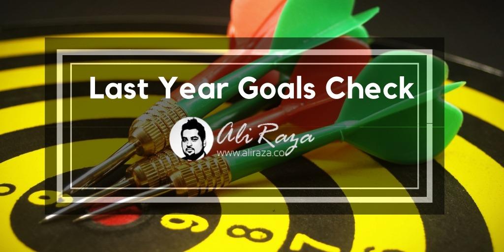 Last Year Goals Check
