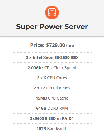 SiteGround Dedicated Hosting - Super Power Server
