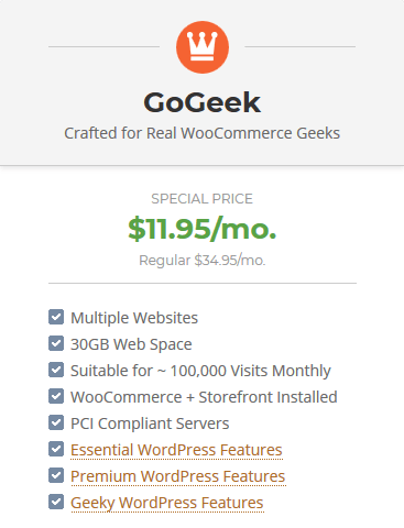 SiteGround High Performance WooCommerce Hosting - GoGeek