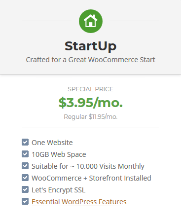 SiteGround High Performance WooCommerce Hosting - Startup