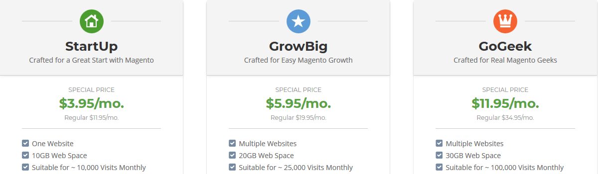 SiteGround Magento Hosting Plans