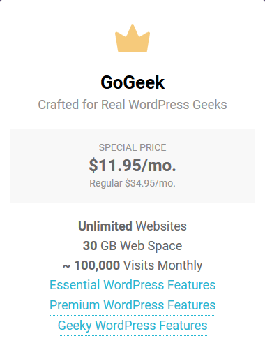 SiteGround Reliable Web Hosting - GoGeek