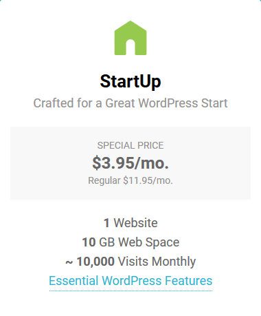 SiteGround Managed WordPress Hosting - Startup