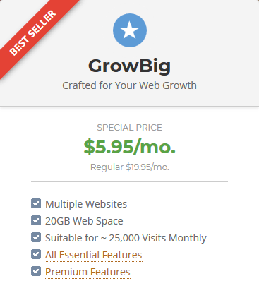 SiteGround Reliable Web Hosting - GrowBig