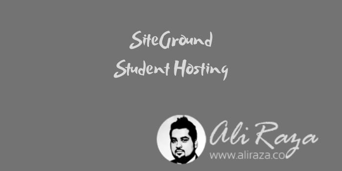 SiteGround Student Hosting