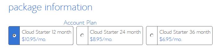 Cloud Hosting - Starter Package Information