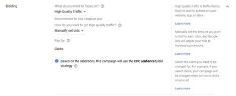 bidding google ads