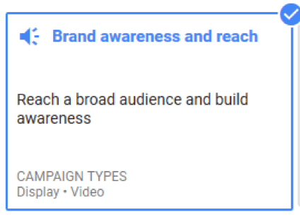 brand awareness and reach google ads