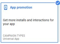 google ads app promotion