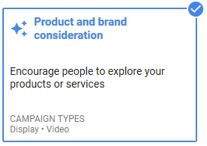 product and brand consideration google ads