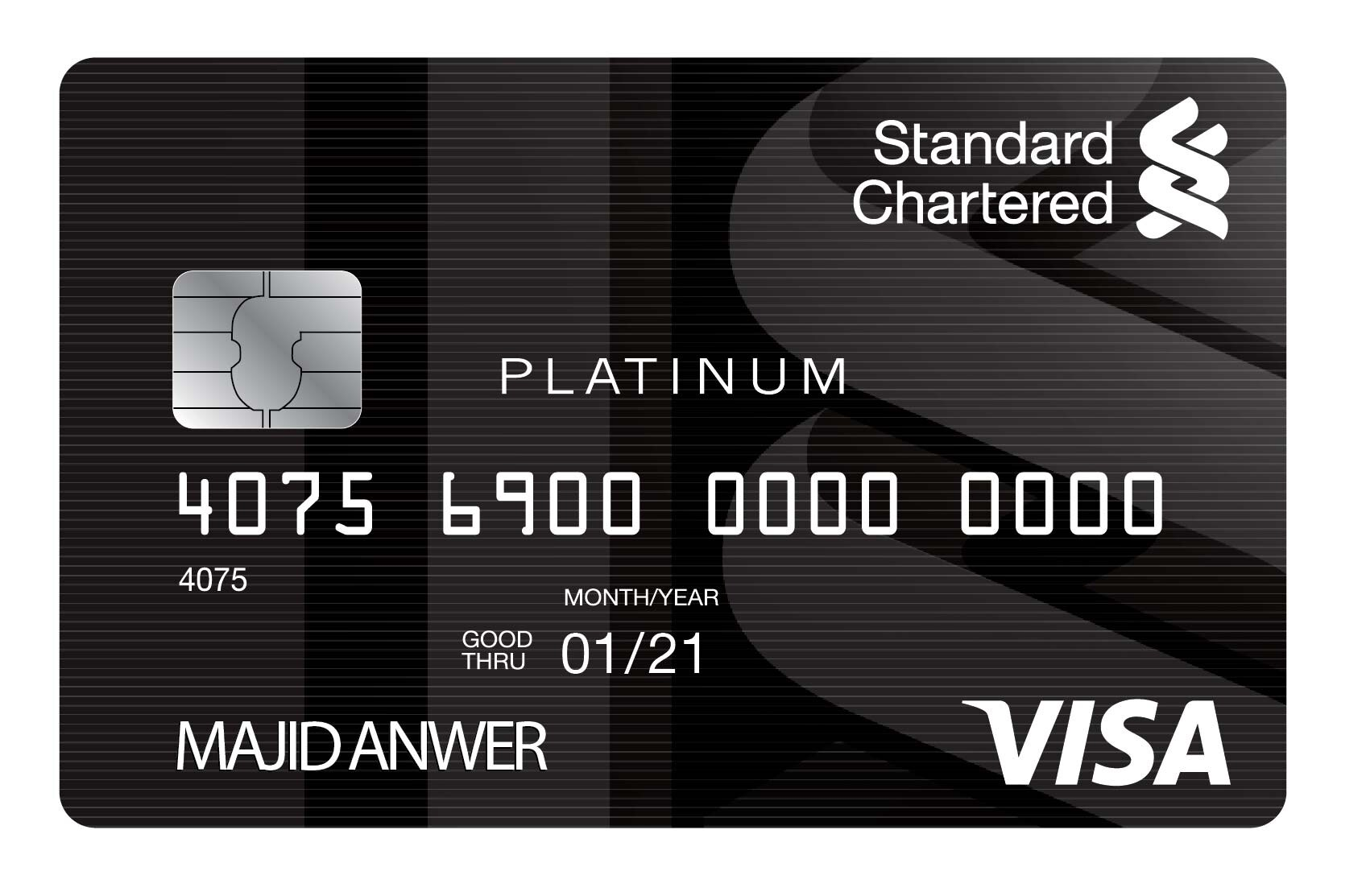 Standard Chartered Visa Platinum Credit Card pakistan
